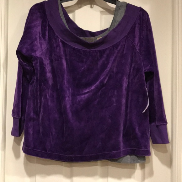 i.e. Relaxed Woman Tops - NWT i.e. Relaxed Woman Velour Top and Grey Tank